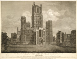 Unmutilated View, exhibiting the original magnificance of Ely Cathedral